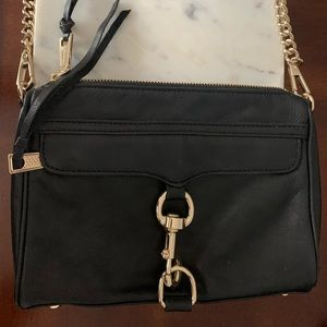 Rebecca Minkoff MAC Cross Body Black Leather Purse
